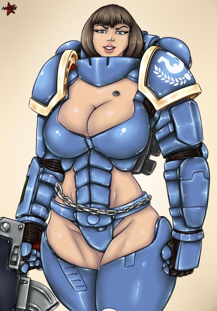Бабомарины возвращаются! Космодесант, Ultramarines, Женщина, Wh other, Wh r63, Warhammer 40k