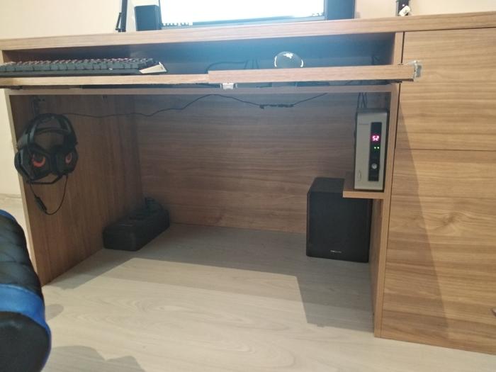 Компьютерный стол №4 Компьютерный стол, Своими руками, Лдсп, Длиннопост