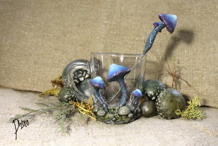 Кружки с декором по мотивам TES III: Morrowind The Elder Scrolls, Morrowind, Рукоделие без процесса, Ручная работа, Грибы, Полимерная глина, Deloto, Длиннопост