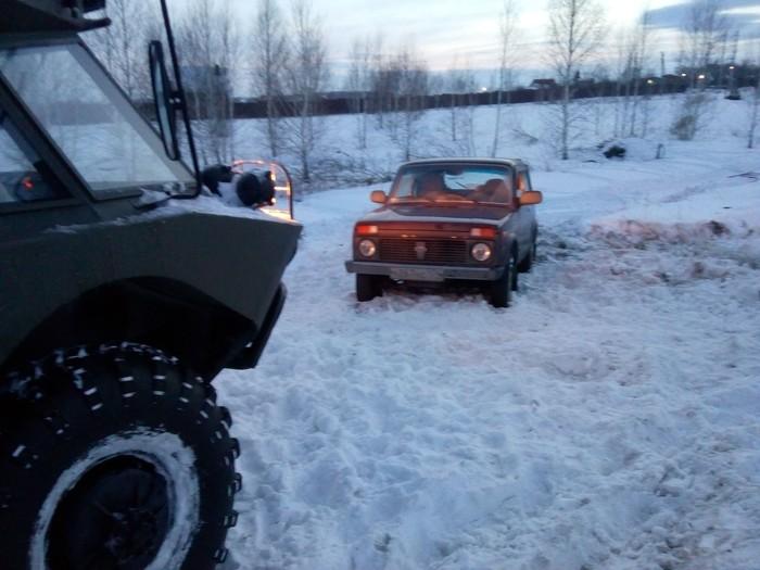 Внезапная помощь. Снег, Брдм-2, Помощь, Застрял, Фотография