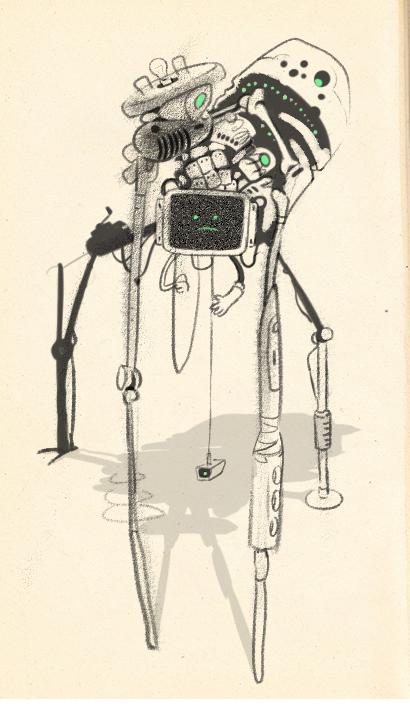 Робот из пятна 1 Marchofrobots, Marchofrobots2019, Робот, Рисунок, Художник, Арт, Картинки, Длиннопост