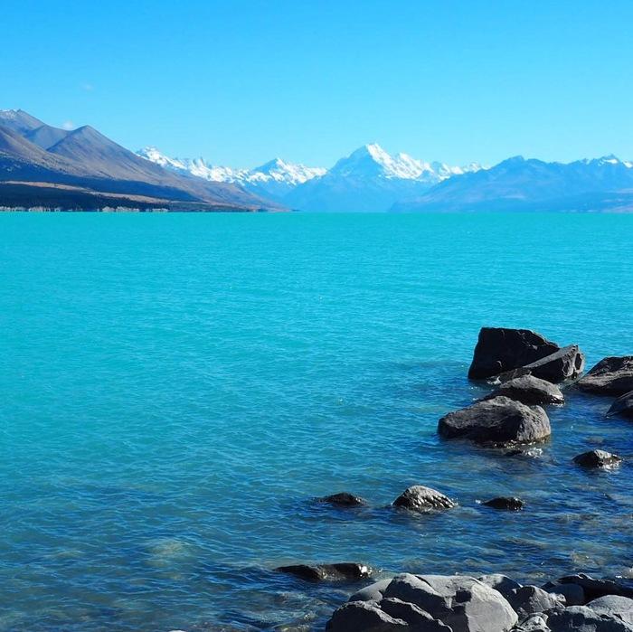 Озеро Пукаки, Новая Зеландия Новая зеландия, Путешествия, Красивый вид