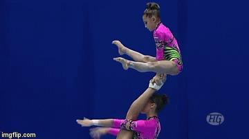 Спортивная акробатика. Часть 1. Спортивная акробатика, Спорт, Акробаты, Акробатика, Гифка, Длиннопост