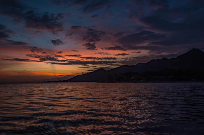 Несколько фотографий с рыбалки Рассвет, Море, Солнце, Восход, Индонезия, Облака, Длиннопост, Фотография
