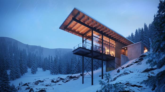 Домик в горах Юты