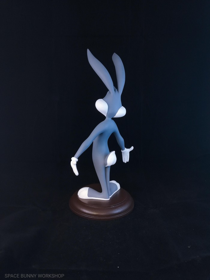 Bugs Bunny Ручная работа, Своими руками, Рукоделие без процесса, Скульптура, Looney Tunes, Кролик, Пластилин, Длиннопост