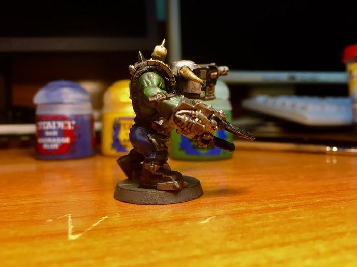 Первый ноб в моей практике. Покраска миниатюр, Покраска, Орки, Warhammer 40k, Длиннопост