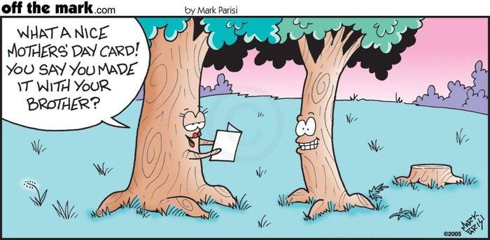 Комиксы про деревья: брата жалко Offthemark, Комиксы, Дерево, Открытка, Брат