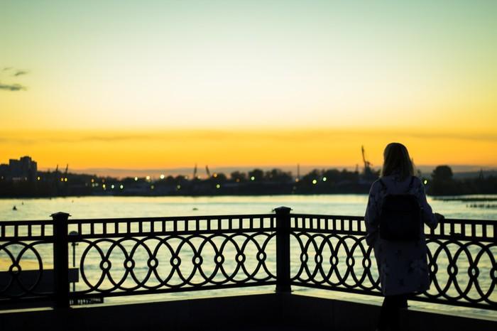 Закат Иркутск, Закат, Набережная, Canon 1300d, Красивая девушка