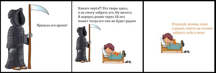 Котозащита Комиксы, Кот, Смерть