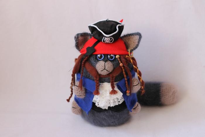 Котик пират Кусь Пираты, Кот, Капитан Джек Воробей, Ручная работа, Авторская игрушка, Рукоделие без процесса, Длиннопост