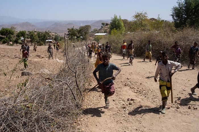 За что могут закидать камнями в африканской деревне. Африка, Грабеж, Негр, Эфиопия, Дети, Видео, Длиннопост