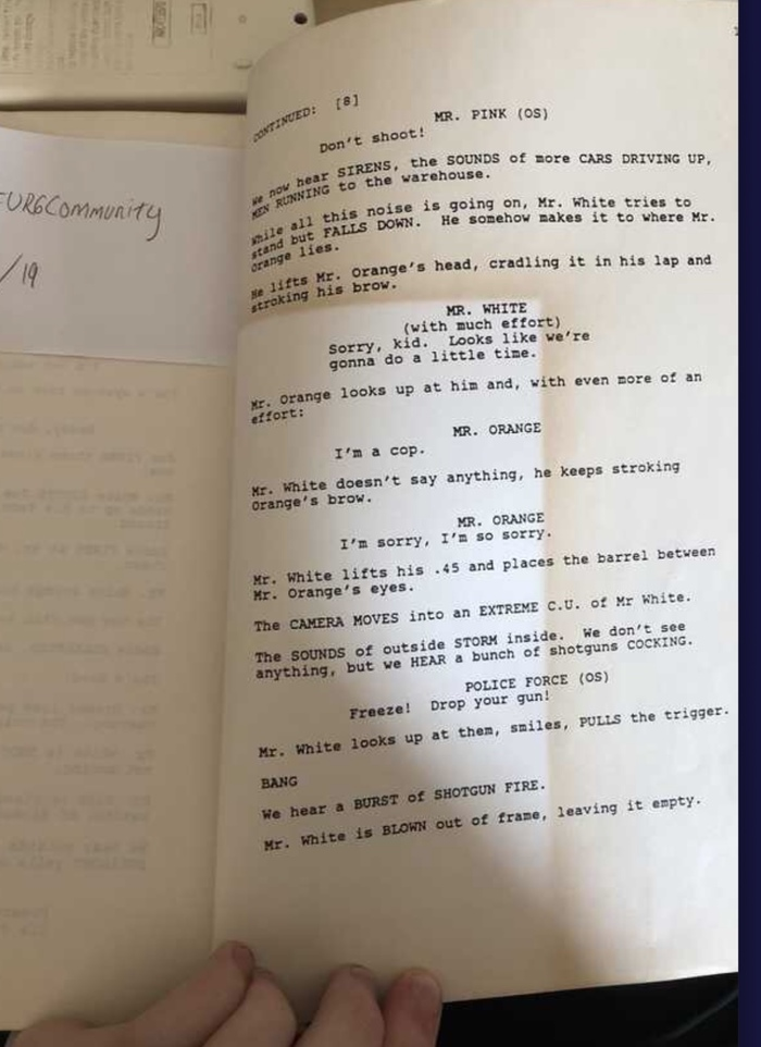 Фанаты Тарантино, спустя 27 лет, мы получили точный ответ - застрелил ли Мистер Белый Мистера Оранжевого в фильме «Бешеные Псы»? Фильмы, Квентин Тарантино, Спойлер, Бешеные псы, Reddit, Видео, Длиннопост