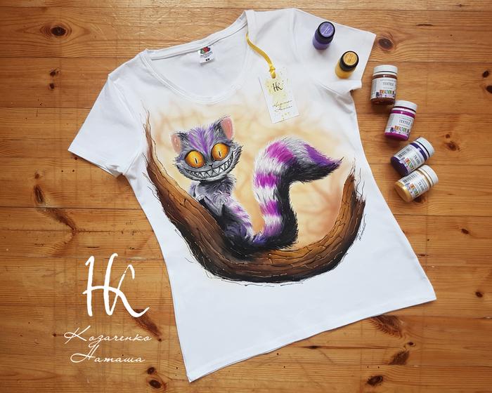 Ручная роспись Чеширский кот