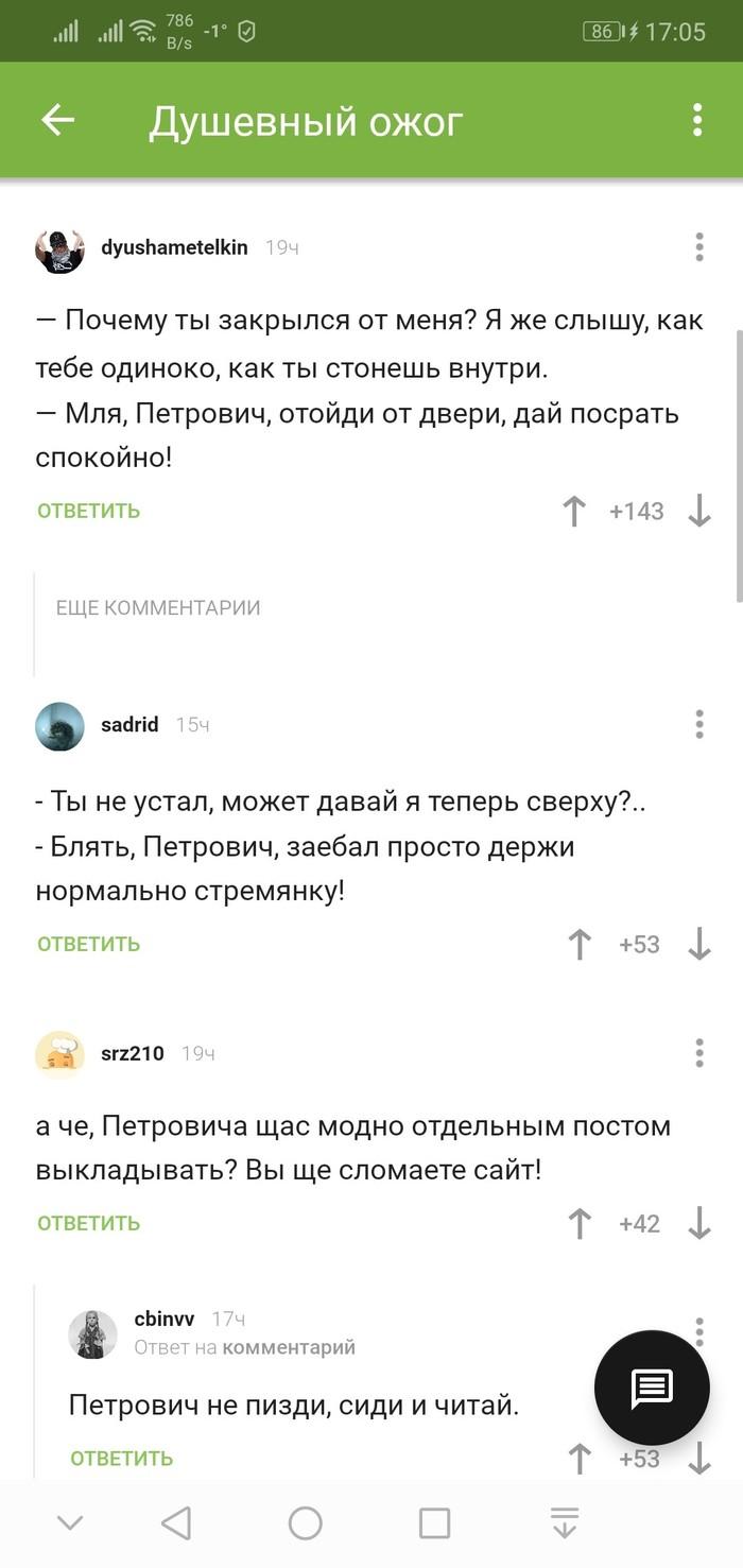 Петрович попал)) Комментарии, Петрович, Комментарии на Пикабу, Скриншот, Мат