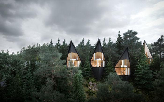Дома в лесу. Дом, Архитектура, Туризм, Boredpanda, Длиннопост, Домик в лесу
