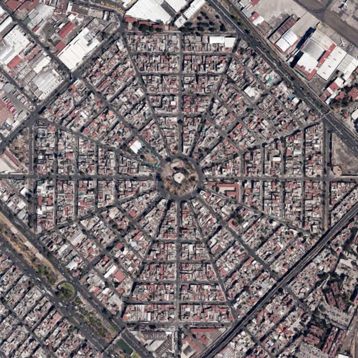 Мехико с высоты птичьего полёта