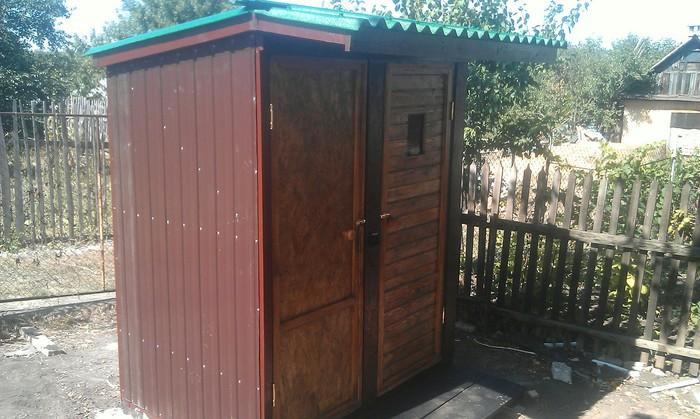 Уличный туалет:Я его слепил из того что было. Строительство, Частный дом, Длиннопост