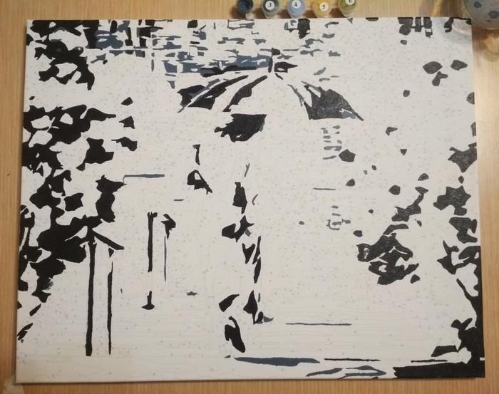 Типа художник... Картина, Длиннопост, Раскраска, Картины по номерам