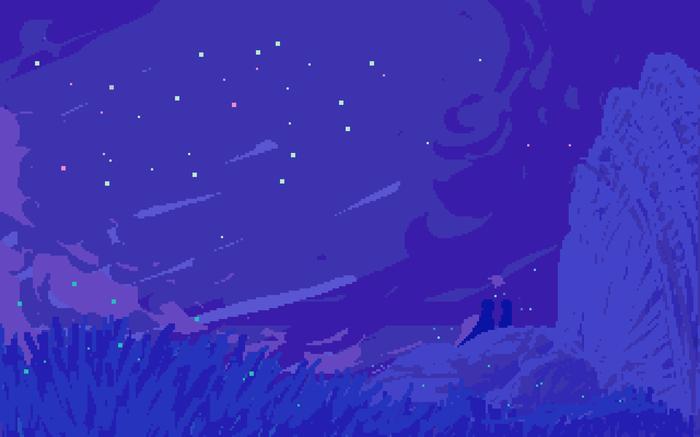 Лишь мы и звезды Pixel Art, Тег