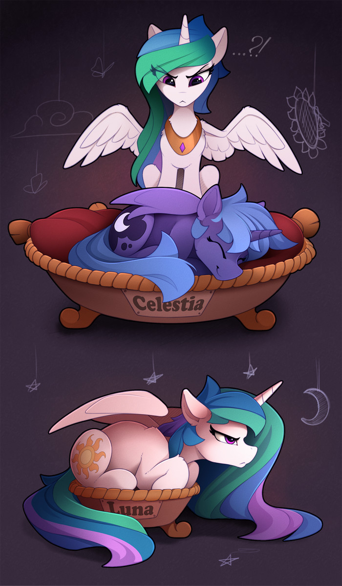 Usurper My Little Pony, Ponyart, Princess Luna, Princess Celestia, Yakovlev-Vad