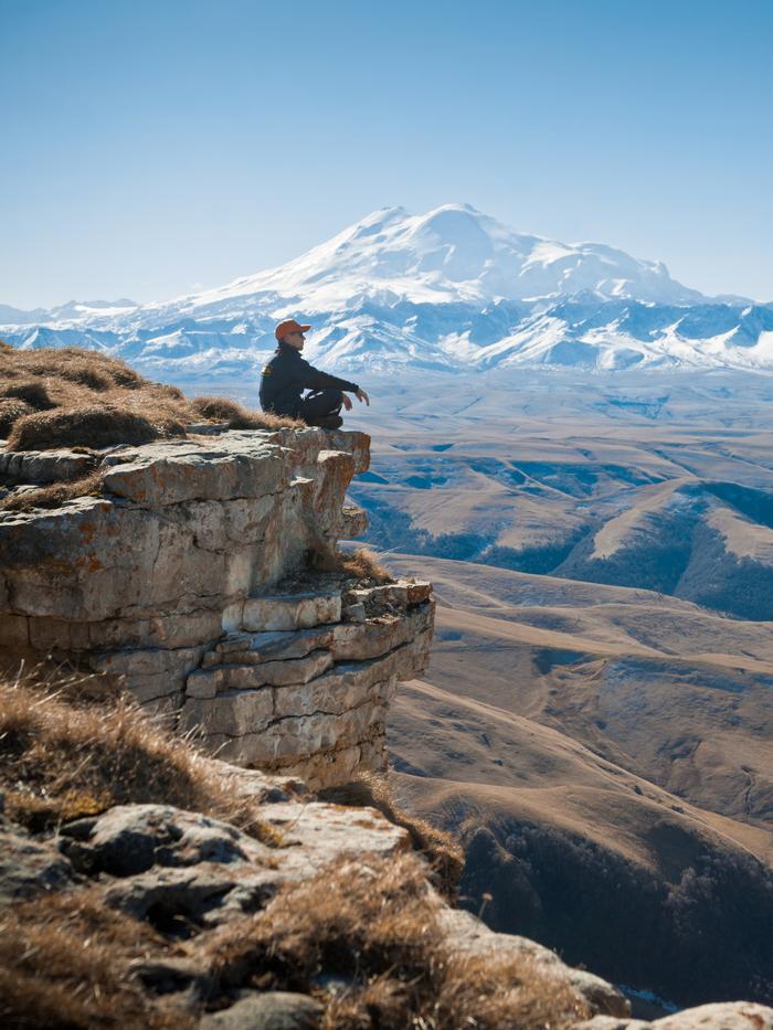 Плато Бермамыт - лучший вид на гору Эльбрус Плато Бермамыт, Эльбрус, Горы, Приэльбрусье, Путешествия