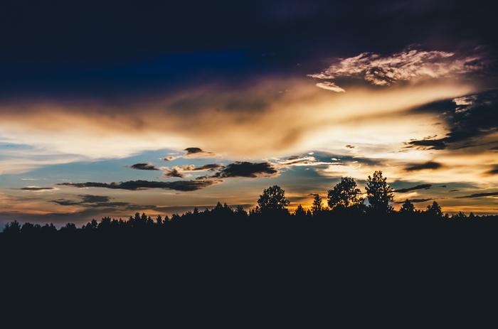 Вечер в деревне. Фотография, Природа, Закат, Вечер, Nikon d5100