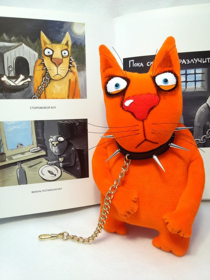Сторожевой кот Своими руками, Рукоделие без процесса, Кот, Мягкая игрушка, Вася Ложкин, Шитье