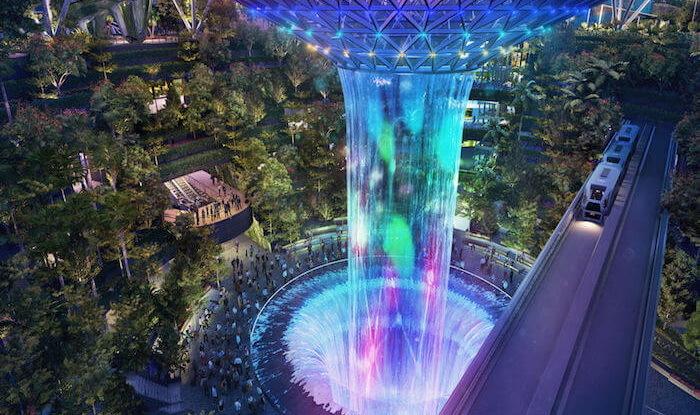 Впечатляюще – новое «чудо» в аэропорту Сингапура Сингапур, Чанги, Аэропорт, Архитектура, Дизайн, Длиннопост