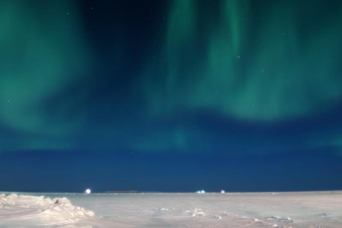 Северное сияние Север, Вахта, Ямал, Северное сияние, Длиннопост