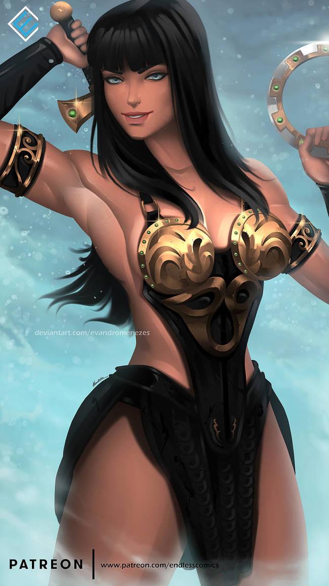 Xena the Warrior Princess Deviantart, Арт, Рисунок, Зена - королева воинов, Evandromenezes