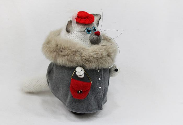 Кыся с КрысЕй Кот, Тайская кошка, Ручная работа, Авторская игрушка, Рукоделие без процесса, Длиннопост