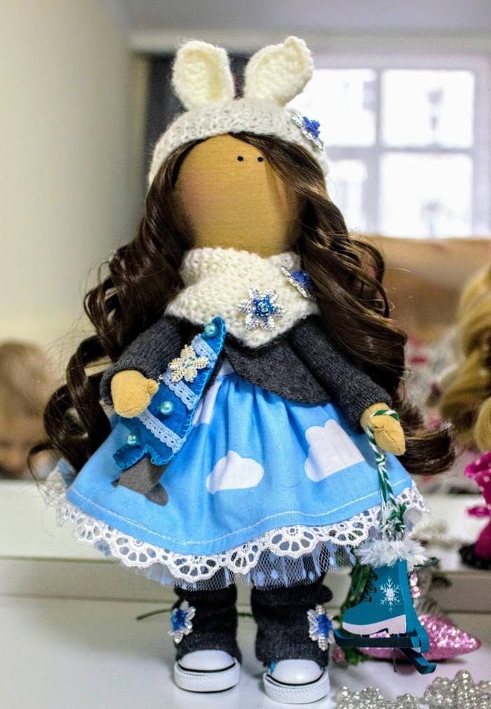 Зайка хочет покататься на коньках...давно сделала, все никак не могла выложить.... Текстильная кукла, Ручная работа, Оригинальный подарок, Рукоделие без процесса, Подарок на день рождения, Длиннопост