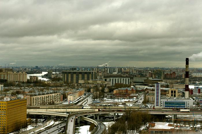 Санкт-Петербург с 31-го этажа Город, Санкт-Петербург, Рыбацкое, Обухово, Зсд, Городские пейзажи