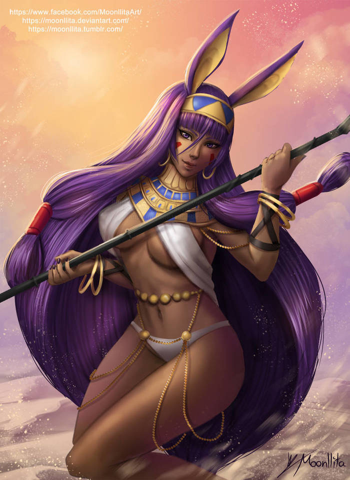 Nitocris Deviantart, Арт, Рисунок, Anime Art, Nitocris, Moonllita