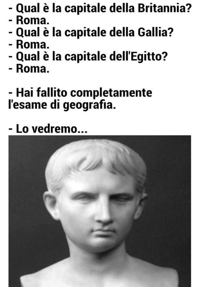 Посмотрим... Гай Юлий Цезарь, Итальянский язык, Перевод, Юмор, Рим, География