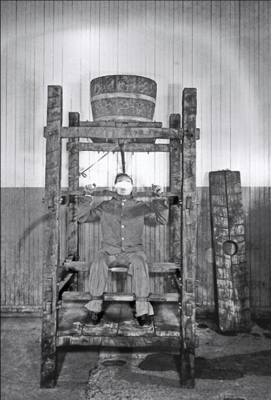 Устройство для пытки водой. Тюрьма Син-Син, 1869 г.