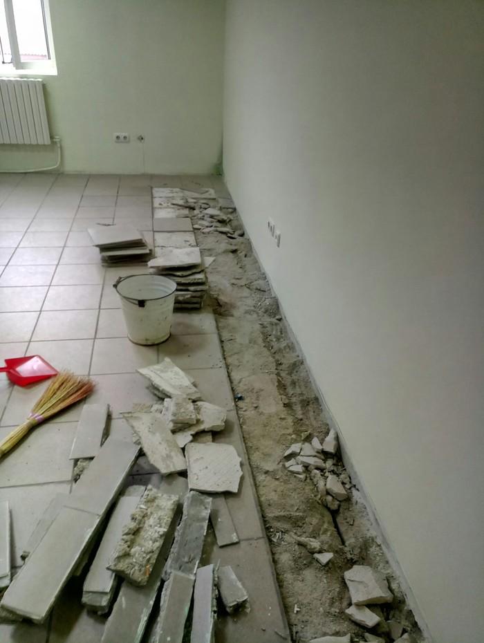 Ремонтный вопрос Ремонт, Пол, Стяжка, Плитка, Длиннопост