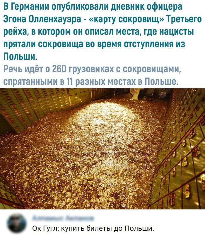 Карта сокровищ Золото, Польша, Вконтакте