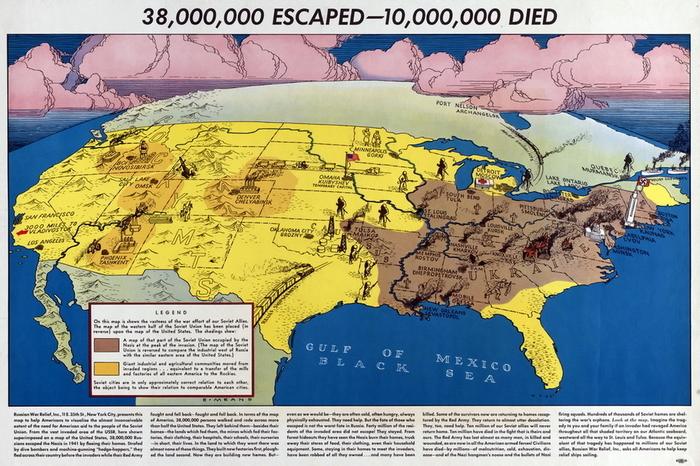 На себе не показывай! США, Вторая мировая война, Агитация, Плакат, Агитационный плакат, Длиннопост