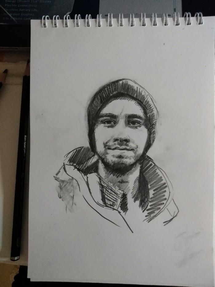 Котаны, в последнее время появилось желание рисовать и все благодаря вам :3 Рисунок, Карандаш, Рисунок карандашом, Я художник - я так вижу, Бессонница, Длиннопост, Портрет