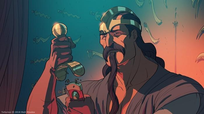 Tellurion [8] Tellurion, Matt rhodes, Приключения, Фэнтези, Арт, Комиксы, Веб-Комикс, Длиннопост