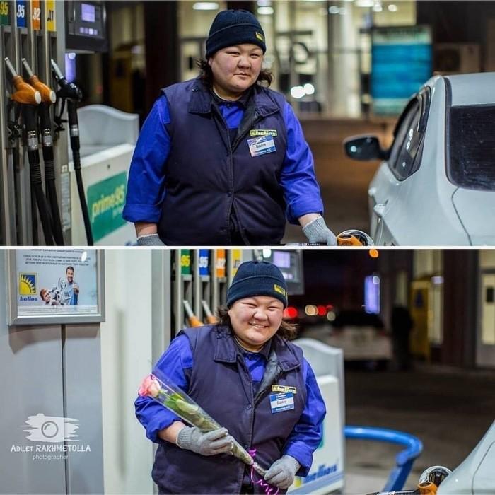 Любите и цените женщин Женщина, 8 марта, Цветы, Длиннопост, Казахстан