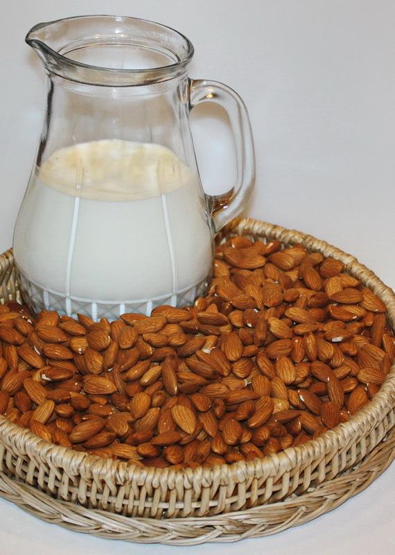 Миндаль. Сливки и молоко. Еда, Рецепт, Молоко, Миндаль, Миндальное молоко, Длиннопост, Напитки