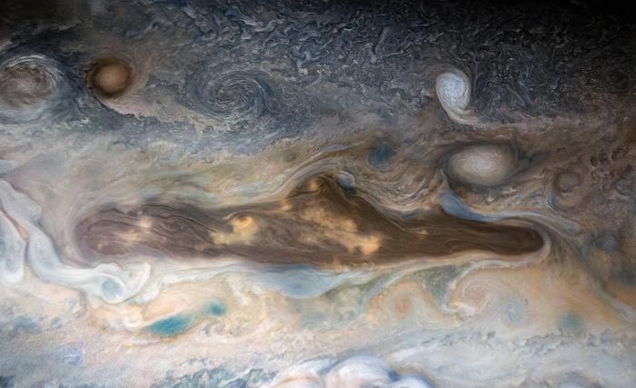 Мистер Хэнки на Юпитере NASA, Juno, Юпитер, Фотография, Космос, South Park, Мистер Хэнки