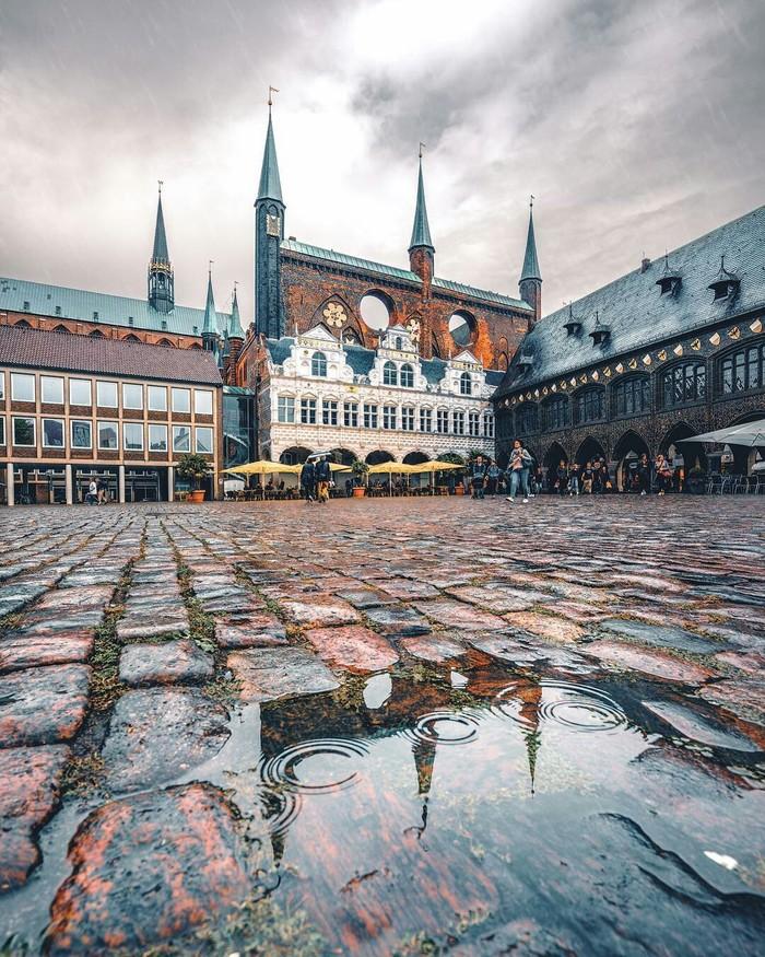 Дождливый Любек, Германия.
