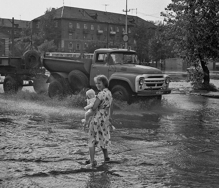 После дождя. Омск. 1973 год.