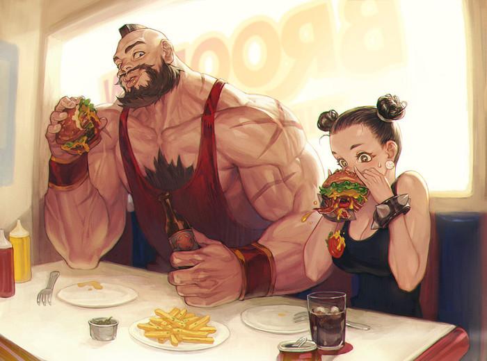 Бойцам надо много кушать