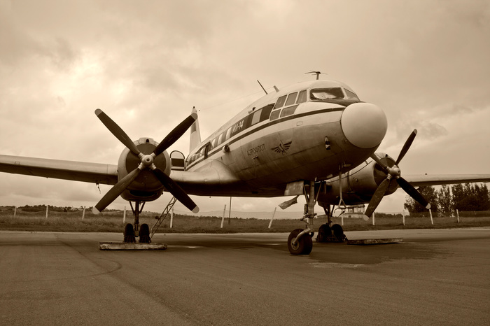 Просто фото. Ил-14п Фотография, Ил-14, Горелово, Сепия, Авиация