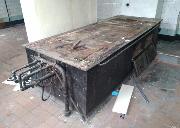 Советская промышленная плита для столовой, предположительно 64 год выпуска Газовое оборудование, Общепит, Ретро, Советское